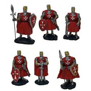 6er Set Ritter rot-weiß