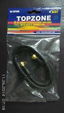 3 Feet Black Coaxial Cable (Molded) RG59U With Gold F Connector