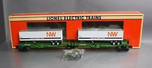 Lionel 6-52014 Burlington Northern TTUX Flat Car w/Vans EX/Box
