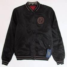 Ralph Lauren Mens Athletic Division Black/Burgundy Reversible Jacket (S) NWT