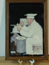 Norman Rockwell How to Diet Frames Mirror Awesome! Chef Cafe Restaurant Bar