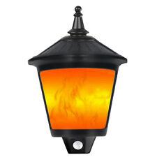 21 LED Outdoor Solar Power Wall Light Waterproof Garden Yard Flame Lamp Kekilan