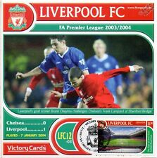 Liverpool 2003-04 Chelsea (BRUNO CHEYROU) Football Timbre Victoire Carte #312