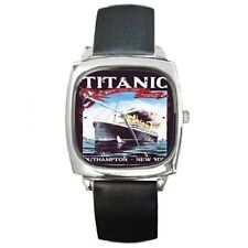 TITANIC 1912 POSTER PUBLICITY ADVERT SQUARE WRISTWATCH *NEW ITEM*