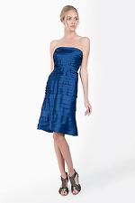 NWT TADASHI SHOJI Blue Lagoon PEAU DE SOIE TIERED Strapless DRESS Size - 6