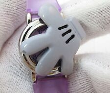 "DAISY DUCK,Lorus, Rare ""Hand Cover"", Purple,LADIES/Kids CHARACTER WATCH 567"