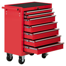 7 Drawers Rolling Mechanic Tool Box Storage Chest Cabinet Trolley Garage Toolbox