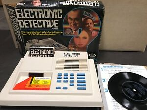 Don Adams (Get Smart) IDEAL Electronic Detective Game in Box W/Record 1979