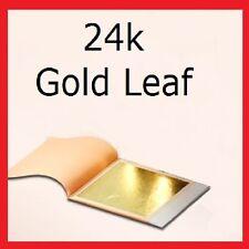24CT feuille d'or 100% authentique scrap gold 1 sample feuille