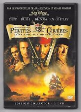 DOUBLE DVD / PIRATES DES CARAÏBES 1 LA MALEDICTION DU BLACK PEARL / JOHNNY DEPP