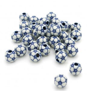 20 FOOTBALL PONY BEADS - LIMITED OF STOCK, ONCE ITS GONE, ITS GONE (dark blue)