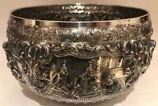 Gigantic Thai / Siam Sterling Silver Repose Bowl