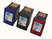 CARTUCCIA 3x per HP 56 & 57und 58 XL DESKJET 5145 5150 hp56