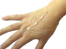 Perlen Sklavenarmband Armband mit Ring Quaste Kette Kettchen Armschmuck