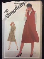Vintage Simplicity Pattern 5197  Misses' Dress Or Jumper Sz 16