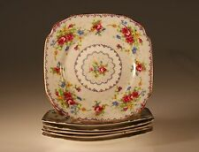Royal Albert Petit Point Set of 6 Square Bread And Butter Plates, England