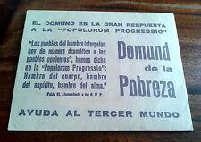 SOBRE PARA DONATIVOS DEL DOMUND AÑOS 60