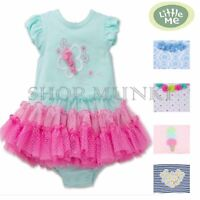 Little Me Baby Girls Cute Tutu Popover Playwear Dress Outfit
