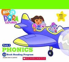 Dora the Explorer Reading Program 12 Book + Phonics Card Pack Scholastic Nick Jr