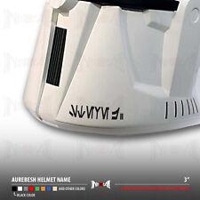 Custom Aurebesh Text on Helmet Star Wars Car Vinyl Sticker Decal