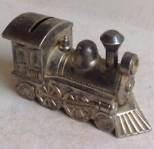Ancienne Tirelire D'époque Art Deco Locomotive Train Old French Money Box