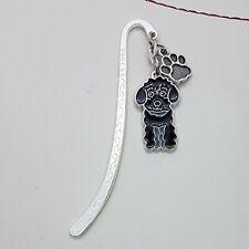 Cockapoo Black Dog bookmark. Handmade