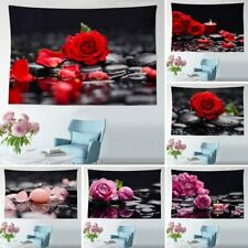 Red Rose Background Cloth Beach Towel Blanket Wall Hanging Home Decor Tapestry