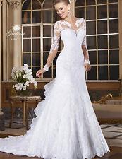2016 White/Ivory Wedding Dress Bridal Gown Custom Size 4 6 8 10 12 14 16 18 20