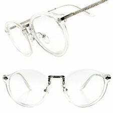 Indie Classic Vintage Retro Fashion Stylish Transparent Round Clear Lens Glasses