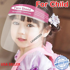 Kids Boys Girls Face Shield Face Mask Anti Splash Plastic HD Clear Anti Fog Mask