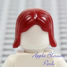 NEW Lego Minifig Short DARK RED HAIR -Girl Friend Female Long Straight Head Gear