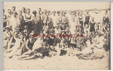(f4751) Orig. Photo Wangerooge, Group Photo In Bathing Clothes On The Beach 1923