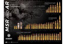 MSR & AR RIFLE M4A1 M855A1 CARTRIDGES AMMUNITION IDENTIFICATION FORENSIC POSTER