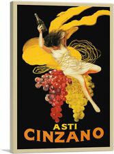 """Asti Cinzano 1920 Canvas Art Print by Leonetto Cappiello 26""""x18"""" (.75"""" Deep)"""