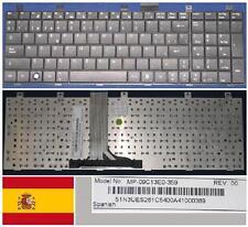 Teclado Qwerty Español MSI 1675 MP-09C13E0-359 S1N3UES261 Negro