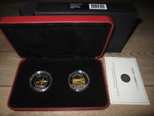 Canada 2005 Chinese Railway Workers Set of 2 $8 Silver Coins. RCM COA Case & Box