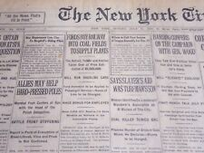 1920 JULY 11 NEW YORK TIMES - FORDS BUY RAILWAY TO SUPPLY PLANTS - NT 6775