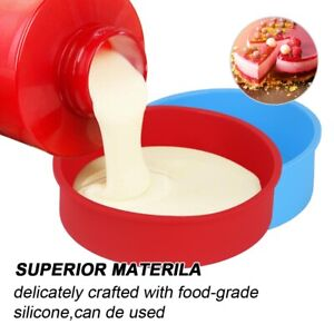 6 inch Silicone Round Cake Pan Tins Non-stick Baking Mould Bakeware Tray