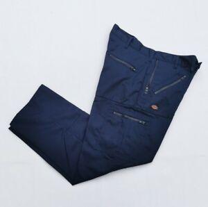 "Dickies Workwear Trousers Cargos 34"" Waist 30"" Leg Navy Blue VGC"