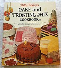 Vtg 1966 Betty Crocker Cake & Frosting Mix Cook Book 1st Ed 1st Print Spiral
