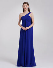 Ever-Pretty UK Long Women One Shoulder Prom Bridesmaid Evening Party Dress 09816 Sapphire Blue 12