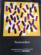New Order Fine Time Authentic And Rare Promo Poster 1989