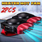 2x 2 in 1 Car Truck Cooler Auto Air Conditioner Fan Fast Cooling Car Heate photo