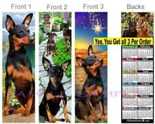 3 Set-Minature Pinscher 2019 Calendar Bookmark Black Min Pins Card Perfect Gift
