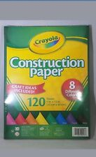 """Crayola Construction Paper, 8 different colors, 120 Sheets 9"""" x 12"""" **Free S & H"""
