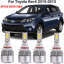 4PCS LED Headlight Bulbs 9005 HB3 Kits For Toyota Rav4 2015-2013 High Low Beam