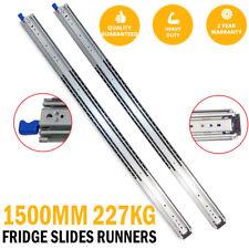 1500MM 227kg Drawer Slides Fridge Runners Heavy Duty 4X4 4WD Ball Bearings