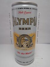 16oz OLYMPIA ITS THE WATER ALL ALUMINUM PULL TAB BEER CAN #160-14-B  NET CONTENT