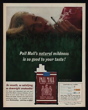 1962 Sexy Woman Laying in the Grass Smoking PALL MALL Cigarettes VINTAGE AD