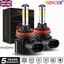 2x H8 H9 H11 LED Headlight Hi/Low Beam DRL Fog Bulbs Kit 6000K Canbus Error Free